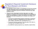 regulation s required investment disclosure for recordkeepers and brokers