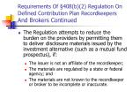 requirements of 408 b 2 regulation on defined contribution plan recordkeepers and brokers continued