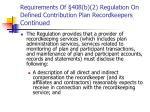 requirements of 408 b 2 regulation on defined contribution plan recordkeepers continued