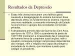 resultados da depress o