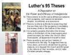 luther s 95 theses
