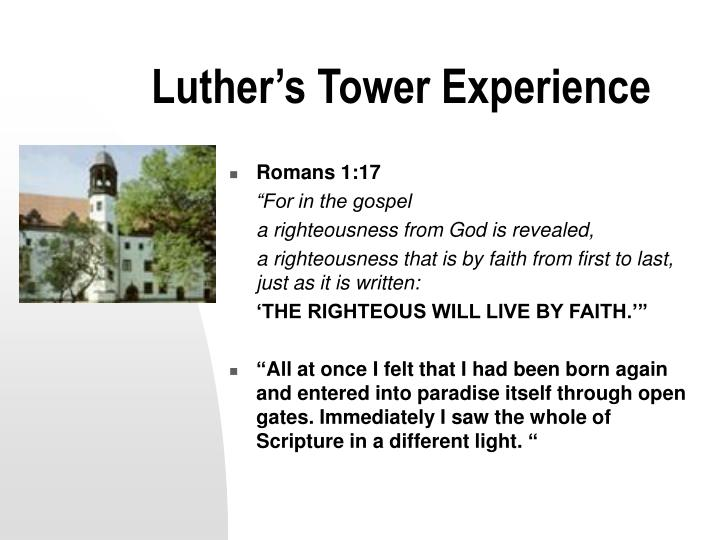 Luther s tower experience