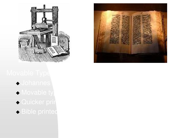 Movable Type Printing Press, 1450