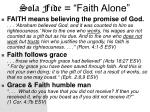 sola fide faith alone