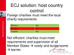 ecj solution host country control