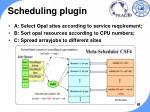 scheduling plugin
