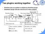 two plugins working together
