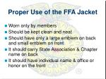 proper use of the ffa jacket