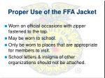 proper use of the ffa jacket1