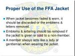 proper use of the ffa jacket2