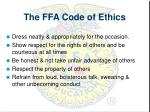 the ffa code of ethics1