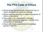 the ffa code of ethics2