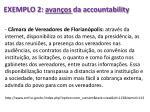 exemplo 2 avan os da accountability