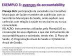 exemplo 3 avan os da accountability