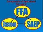 components of agricultural education