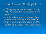 how does a sae help me3