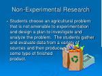 non experimental research