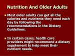 nutrition and older adults