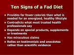 ten signs of a fad diet1