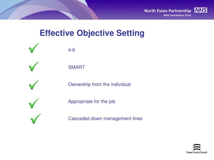 Effective Objective Setting