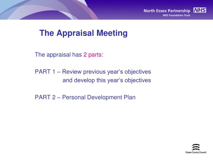 The Appraisal Meeting