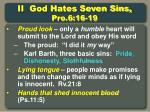 ii god hates seven sins pro 6 16 19