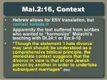 mal 2 16 context