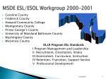 msde esl esol workgroup 2000 2001
