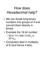 how does hexadecimal help1