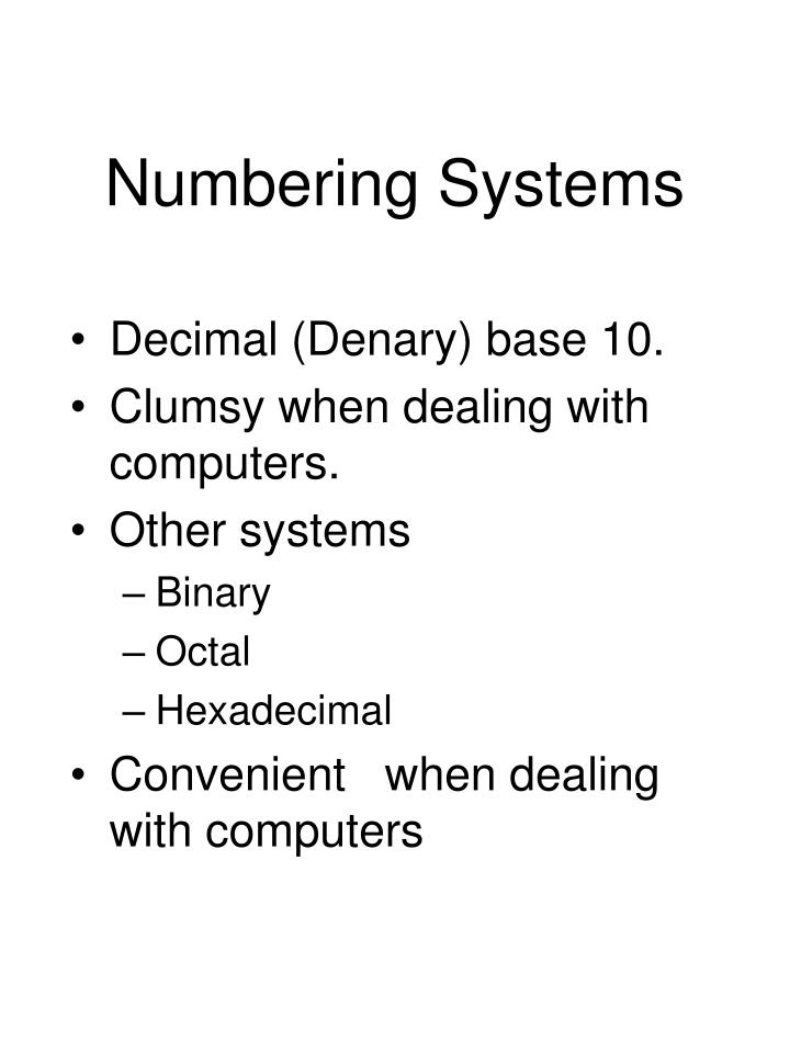 numbering systems n.