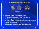 pan to cellular data network