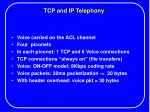 tcp and ip telephony