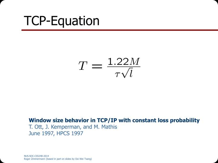 TCP-Equation
