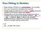 data hiding in modules