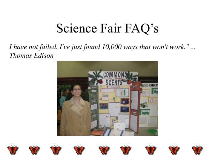 science fair faq s n.
