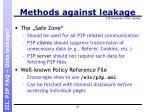 methods against leakage