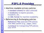 p3p1 0 provides