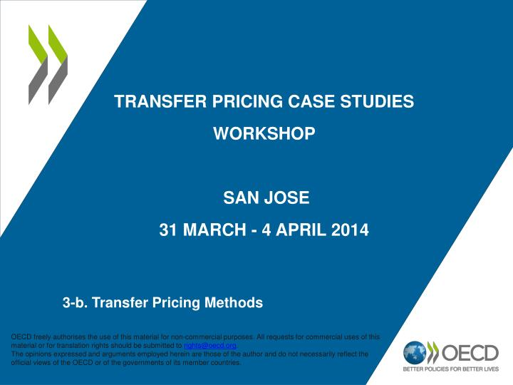 international transfer pricing case study