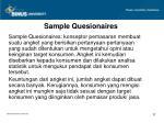 sample quesionaires