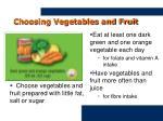 choosing vegetables and fruit
