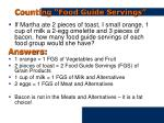 counting food guide servings