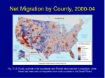 net migration by county 2000 04