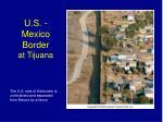 u s mexico border at tijuana