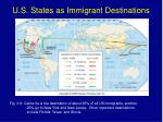 u s states as immigrant destinations