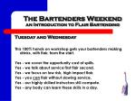 the bartenders weekend an introduction to flair bartending