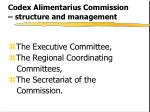 codex alimentarius commission structure and management