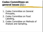 codex committees on general issues 1
