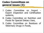 codex committees on general issues 3