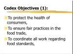 codex objectives 1