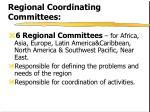 regional coordinating committees